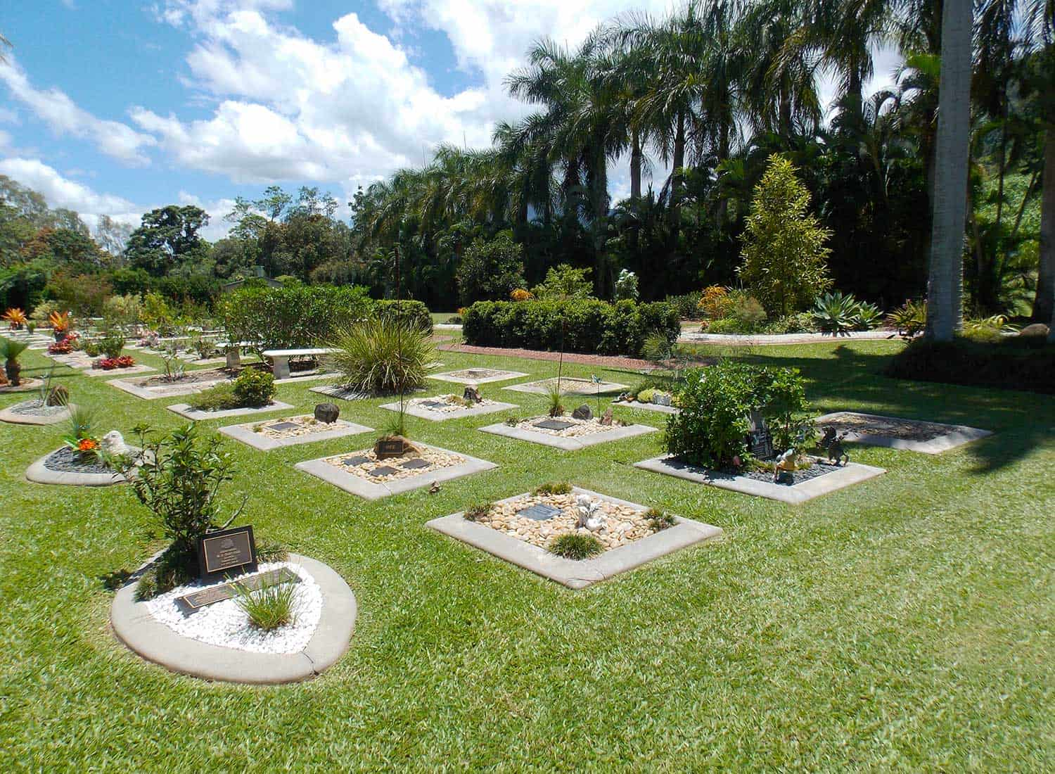 Family gardens at Cairns Crematorium Funeral Home & Memorial Gardens.